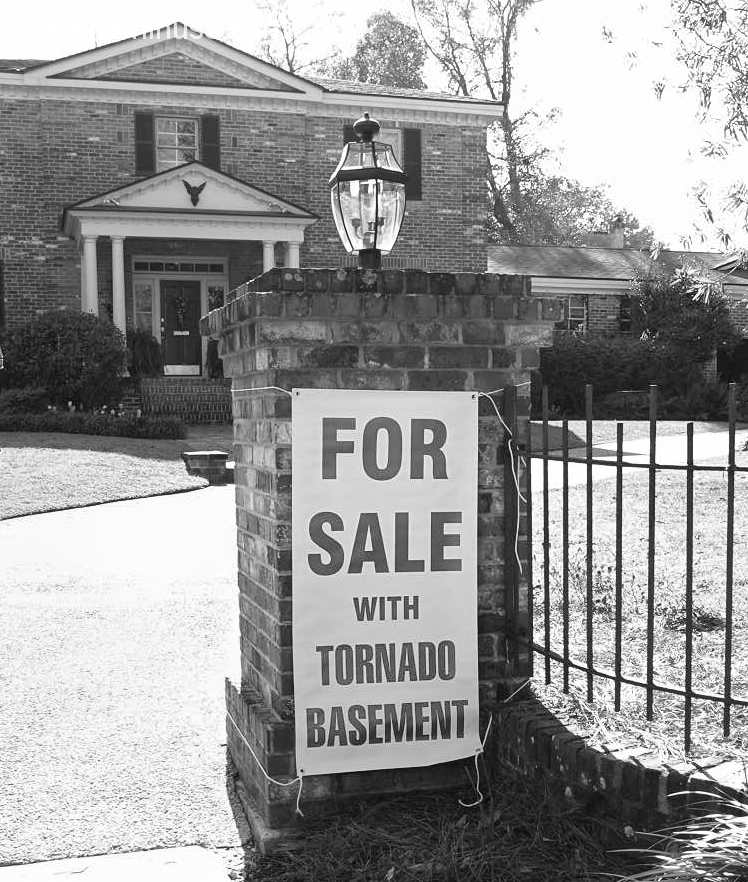 Tornado Shelter For Sale Sign Mobile Alabama