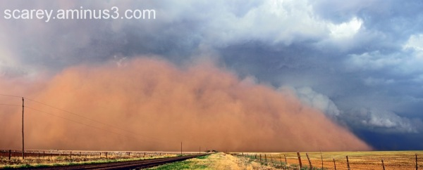 Haboob generated by supercell storm in Texas