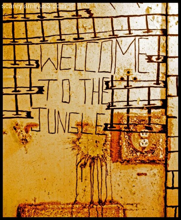 Jail cell graffiti West Virginia Penitentiary