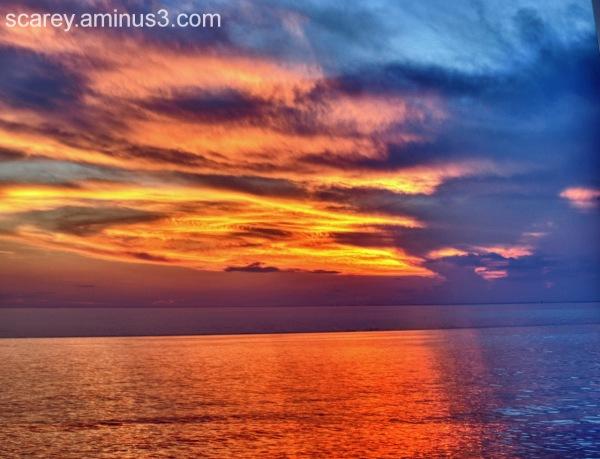 Sunset on Mobile Bay, Alabama