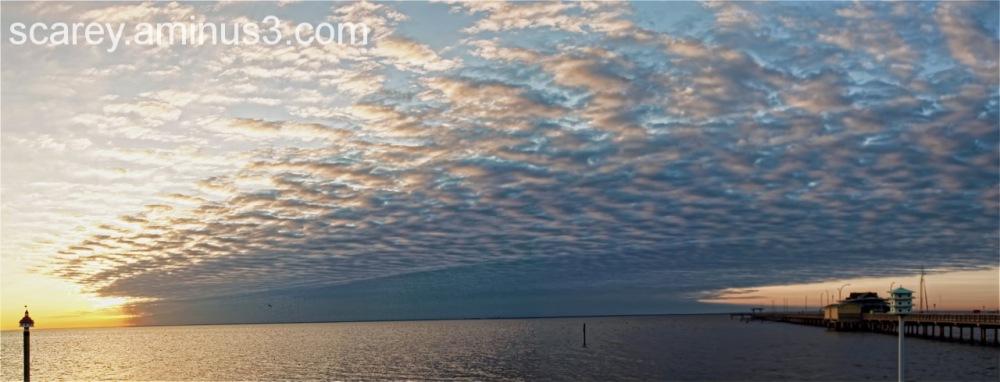 Sunset over Mobile Bay Alabama