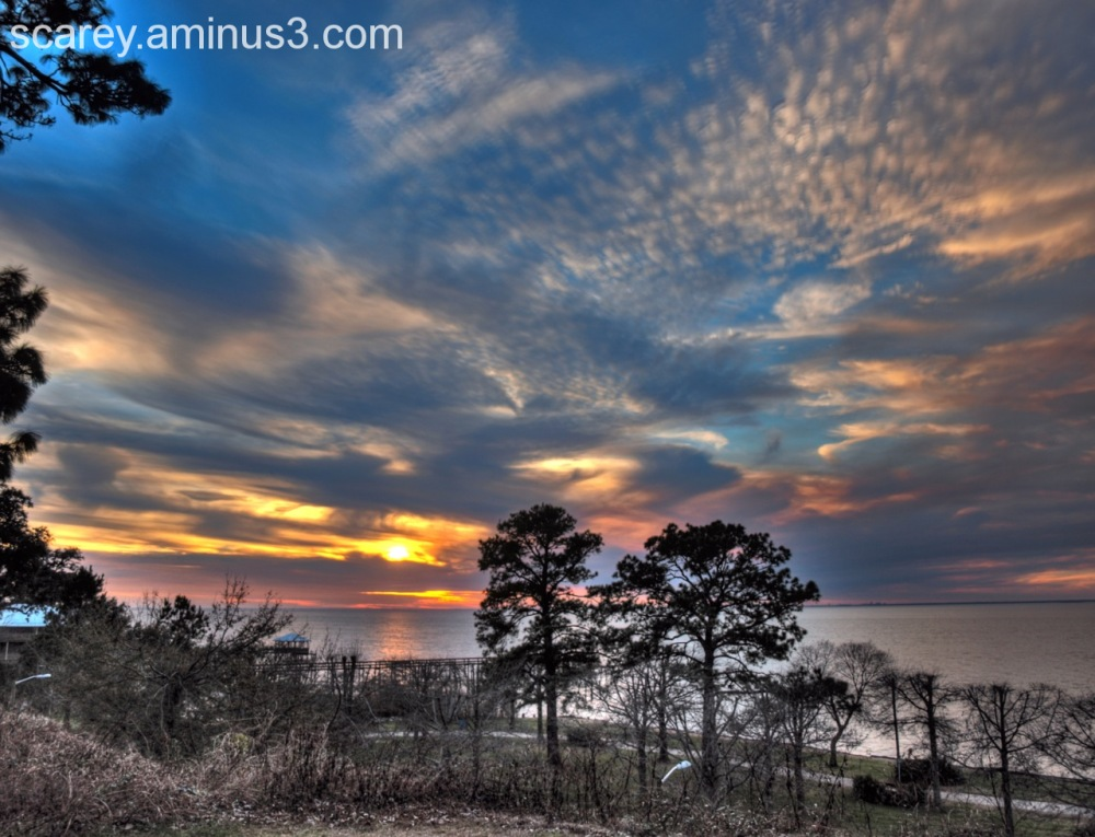 Sunset over Mobile Bay, Alabama