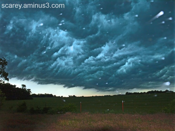Storm clouds in the Texas Panhandle