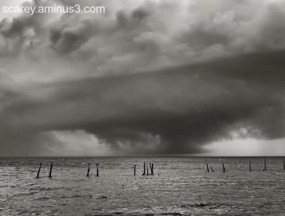 Storm Clouds Over Mobile Bay Alabama