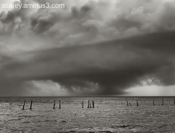 Storm Clouds Over Mobile Bay Alabama