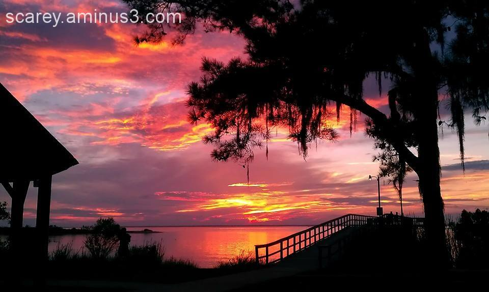 Sunset over Mobile Bay Alabama