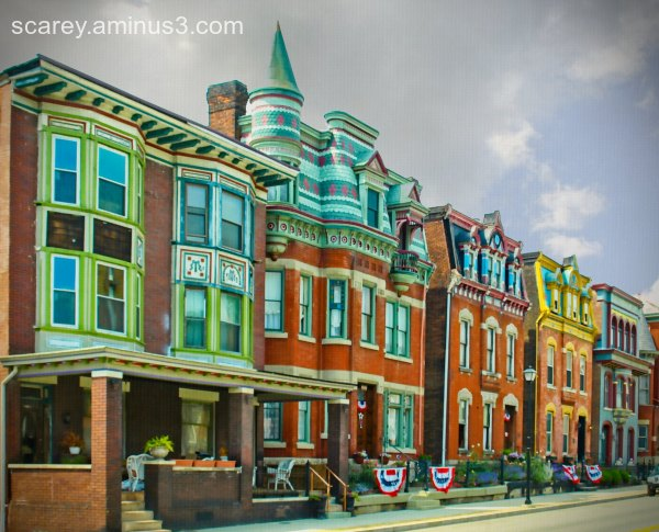 Victorian homes in Wheeling West Virginia.