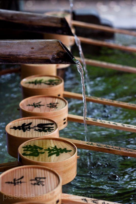 Temizuya or Japanese Shrine Purification Fonts