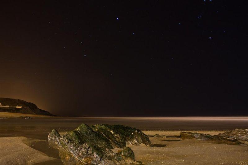 The beach... at night