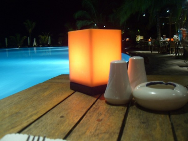 Mauritius dinner by candlelight