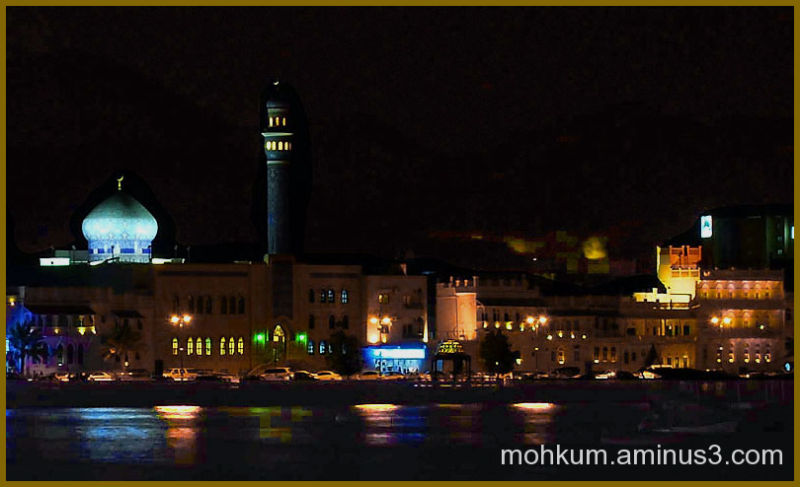 Oman matrah mosque night