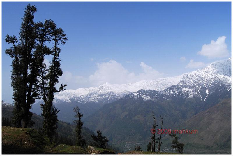 manali himachal snow