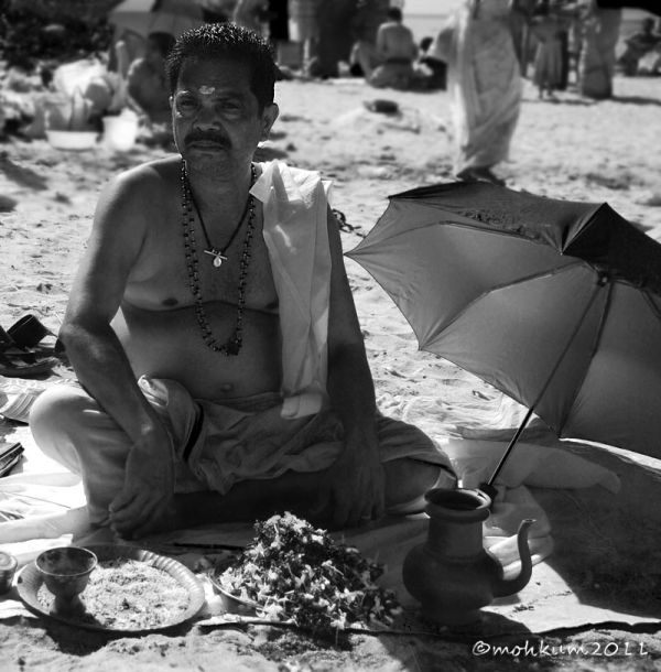Beach side ritual