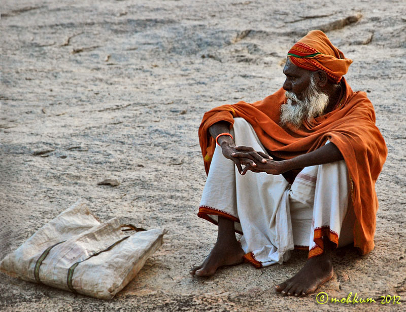 The lone sadhu at Hampi!