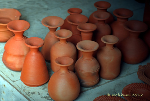 The clay pottery!