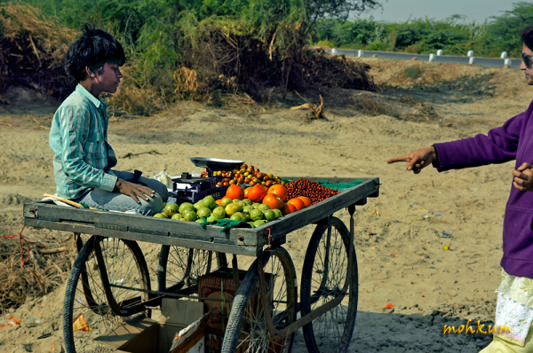 The street vendor at Kutch