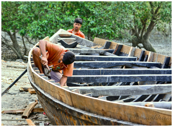 The boat building yard of Sunderbans, Kolkata!