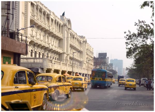 The yellow cabs in Kolkata!