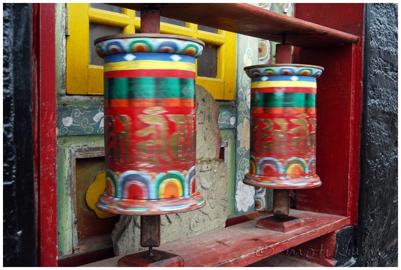 The prayer wheels!