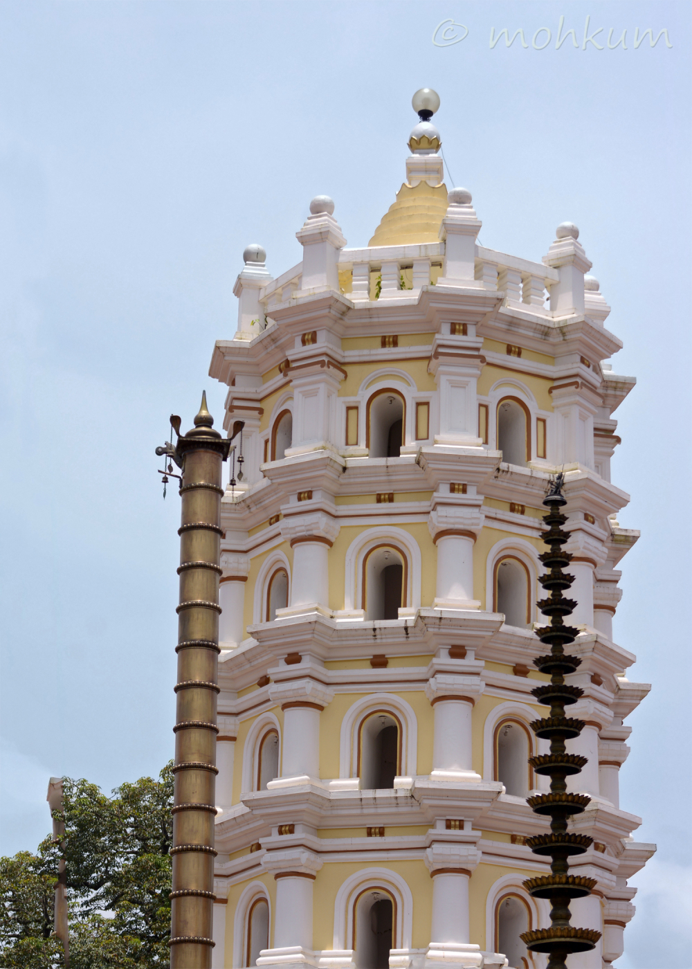 The majestic tower inside the temple!