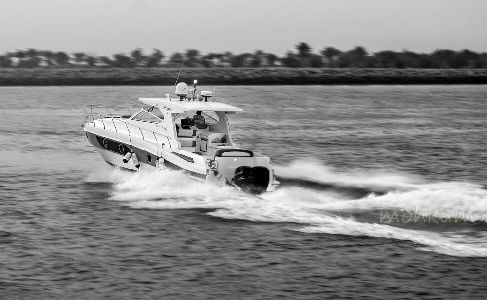 The speeding boat!