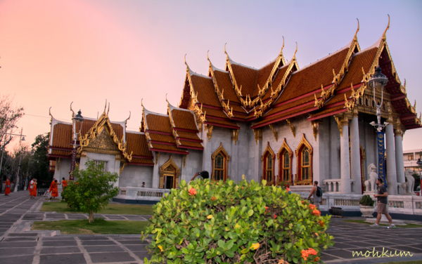 buddha marbletemple  bangkok