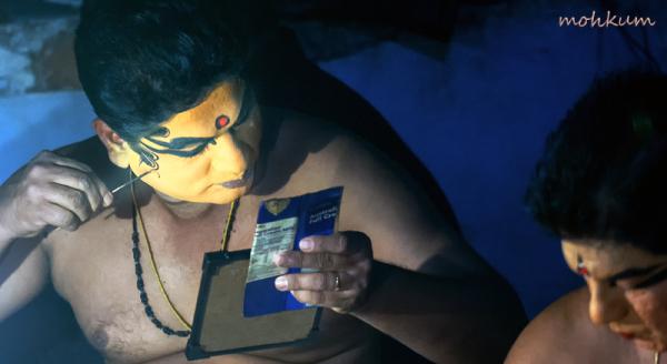 artist makeup greenroom aniara kathakali tripunith
