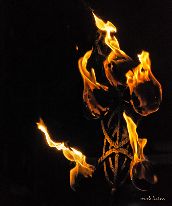 lamp flame oil burner theevatti festival temple