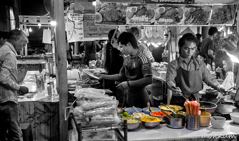 foodstall people street night thailand