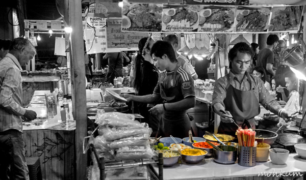 foodstall people street night thailand