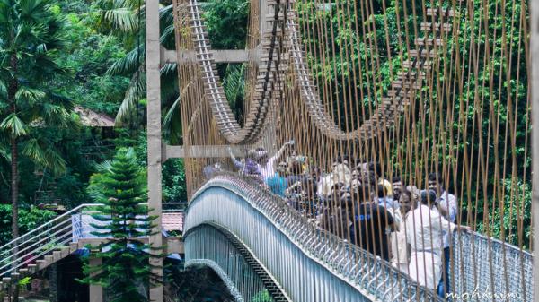 hanging bridge thumboormozhi chalakkudy river