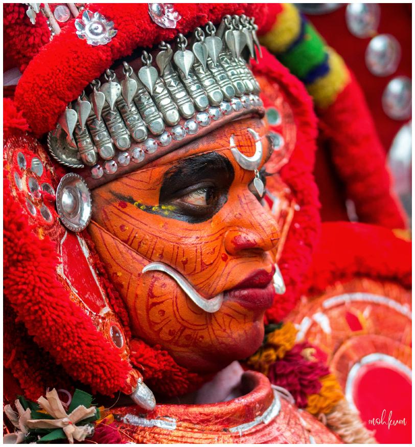 theyyam ritual art  kerala attachamayam tripunithu