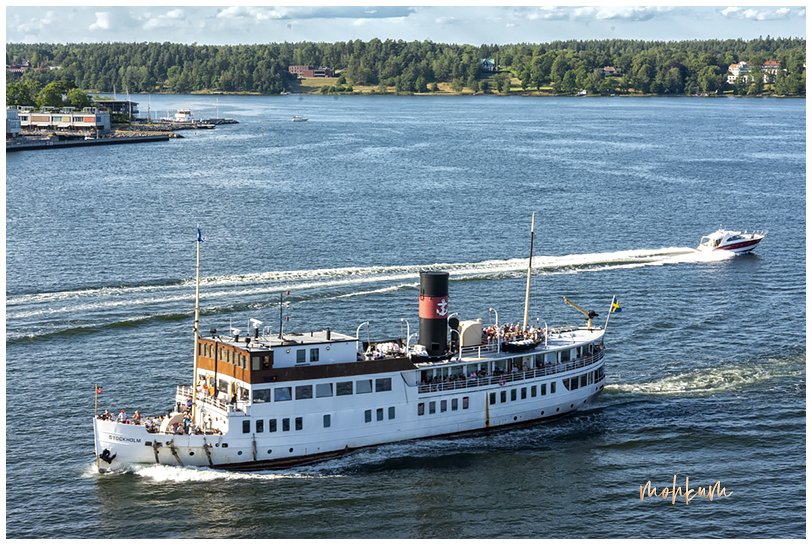 ship boat waves sea stockholm sweden