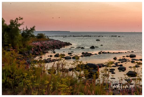 sunset beach tallinn estonia