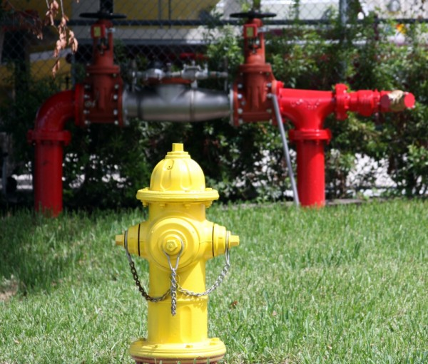 Red and Yellow Fire Hydrant
