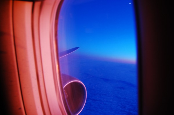 sunrise from a 777 on the way home from new york