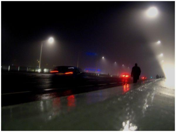 in the night fog Lyon