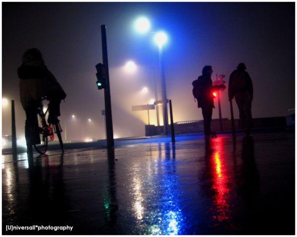 night's lights in Lyon