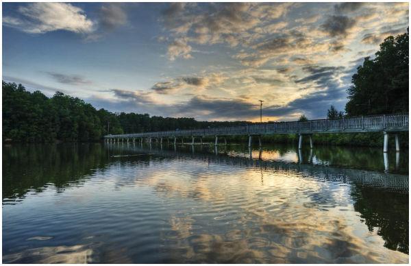 LakeJohnson Raleigh NorthCarolina USA bridge