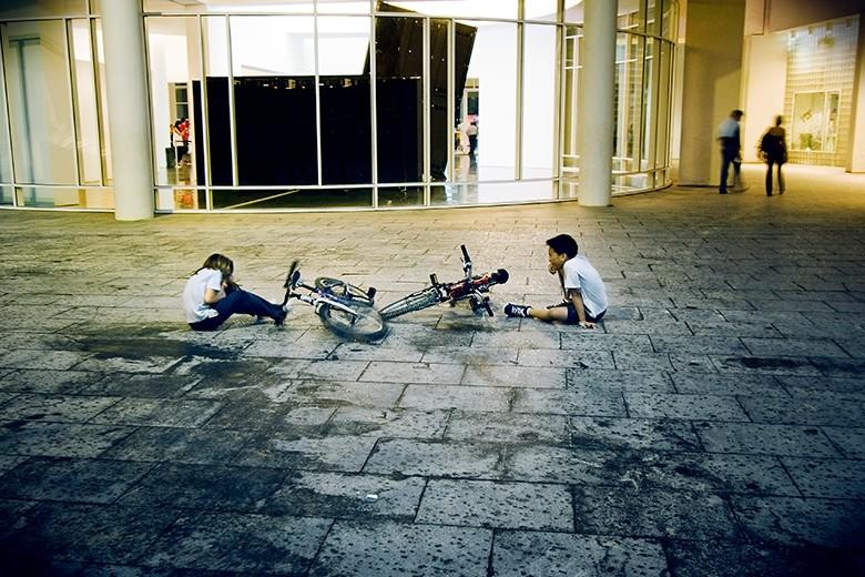 caer de la bici