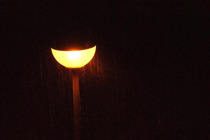 noite e chuva