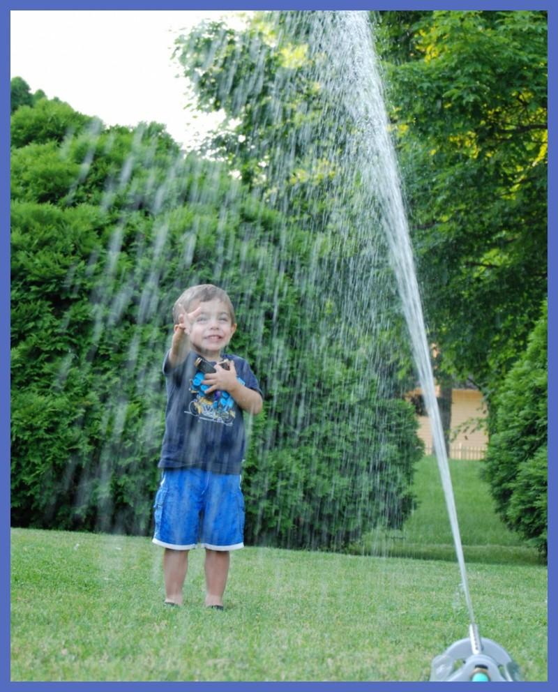 Summer Fun in the Sprinkler!
