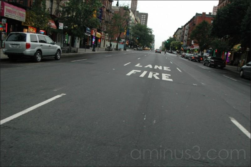 Fire lane, New York, NY. 07/2006