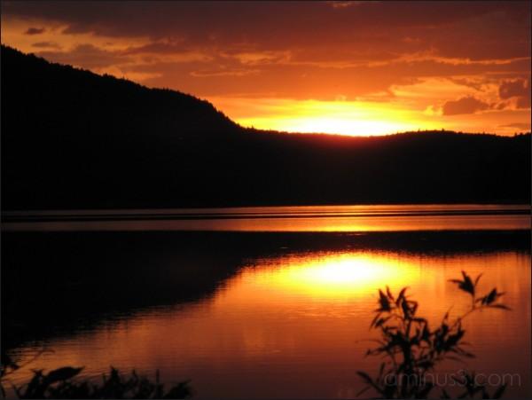 Sunset on the Appalachian Trail, Maine. 07/2007