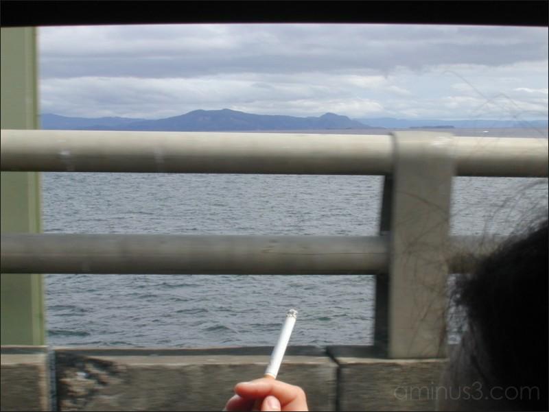 Cruising over the bridge, Astoria, OR. 09/2003.