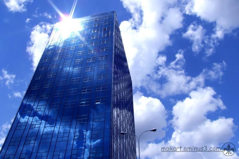 Orion, a blue building