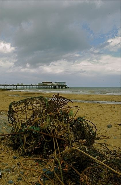 Crab Pots on Cromer beach