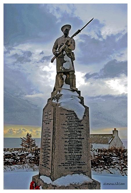 Memorial in the Snow