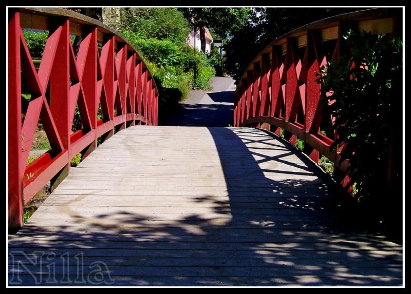 red footbridge