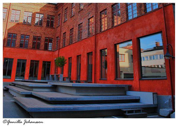 red & brick